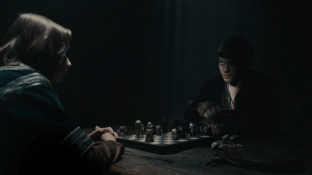 Ivar and Alfred play chess Vikings