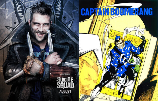 Captain Boomerang Suicide Squad Comics Movie Comparison