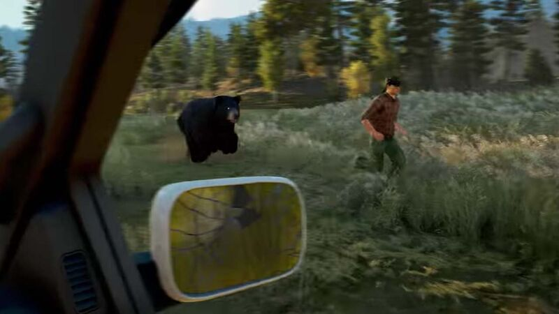 Far Cry 5 animals black bear attacking human