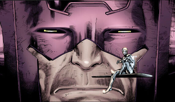 Galactus and Silver Surfer Fantastic Four comic