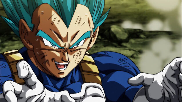 Vegeta in his Super Saiyan Blue form