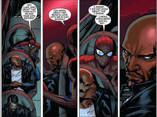 Spider-Man Luke Cage Avengers 001