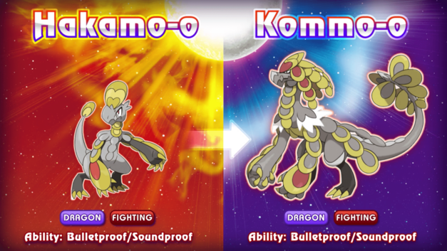 Pokemon Sun and Moon New Pokemon Monsters Hakomo-o Kommo-o