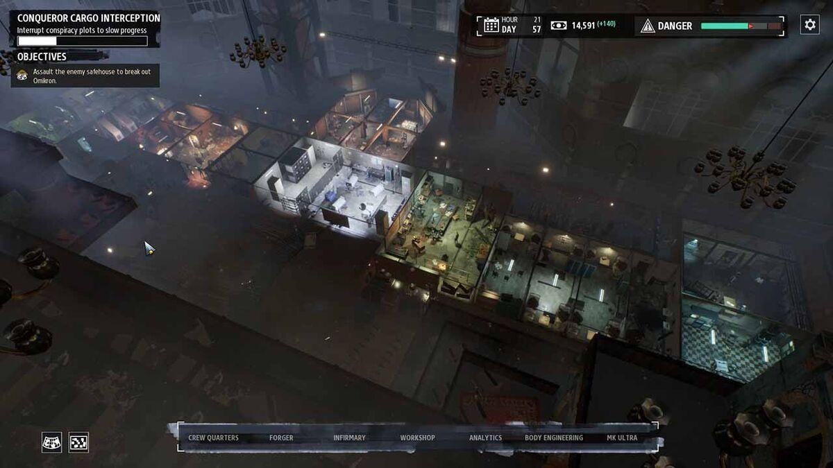 Base hideout Phantom Doctrine facilities