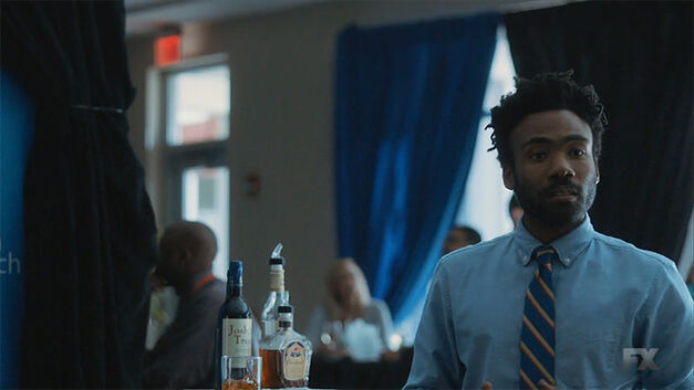 earn played by Donald Glover in atlanta in a bar