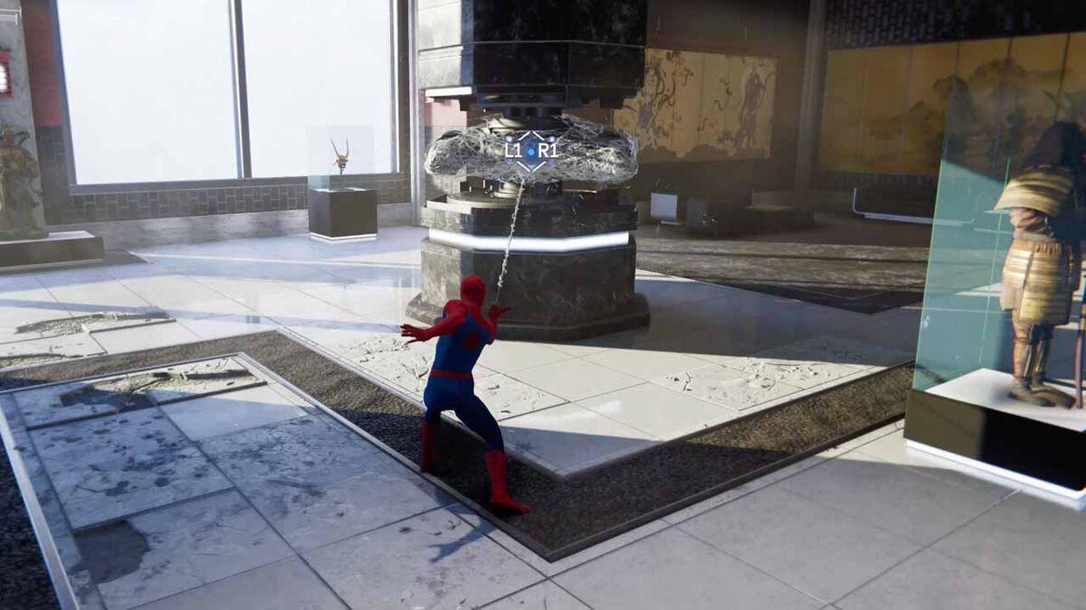 Web minigun Spider-Man PS4 2018 gameplay