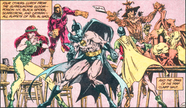 batman issue 400 drawn by art adams Batman fights scarecrow poison ivy and others