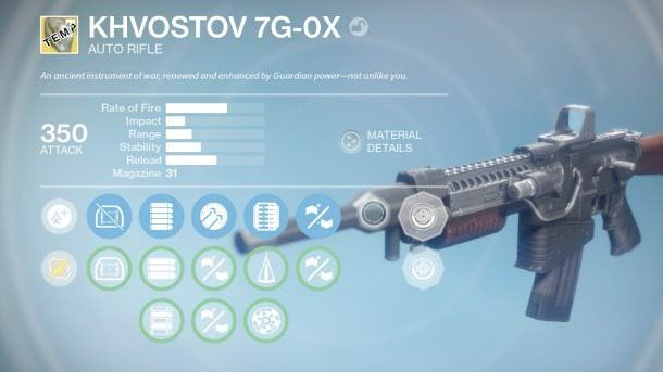 The Khvostov 7G-0X new weapon in Destiny Rise of Iron