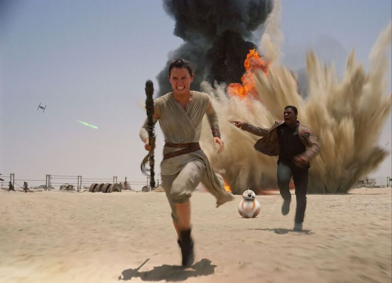 The Force Awakens was shot on traditional film stock