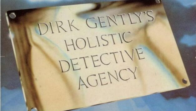 Dirk Gently book cover nameplate
