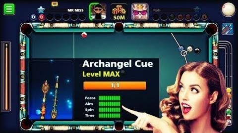 Video - MR  MISS 8 BALL POOL FULLY UPGRADED ARCHANGEL CUE