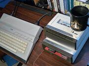Atari 130XE plus atari 1010 plus atari 1050