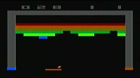 Atari 2600 Breakout gameplay