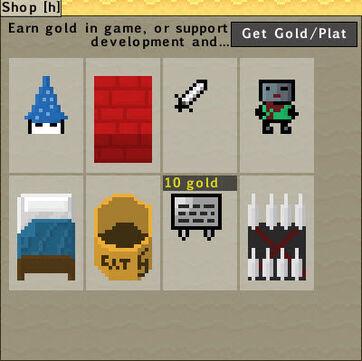 Updated shop