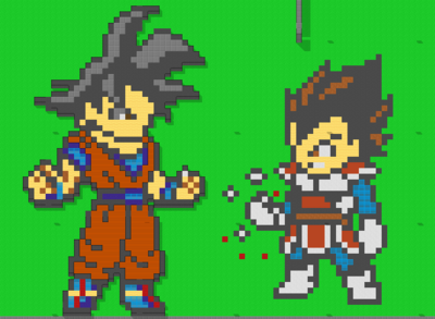 Goku and Vegeta from the 7-27-2013 map update