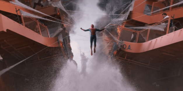 Spidey saves a ferry in Spider-Man: Homecoming