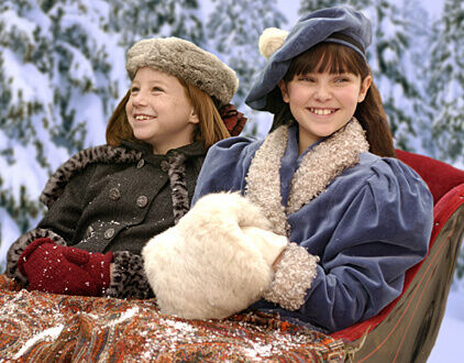 Samantha American Girl Holiday girls in a sleigh