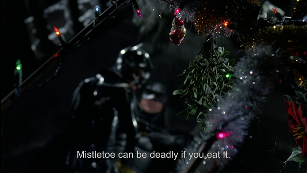 batman returns christmas mistletoe