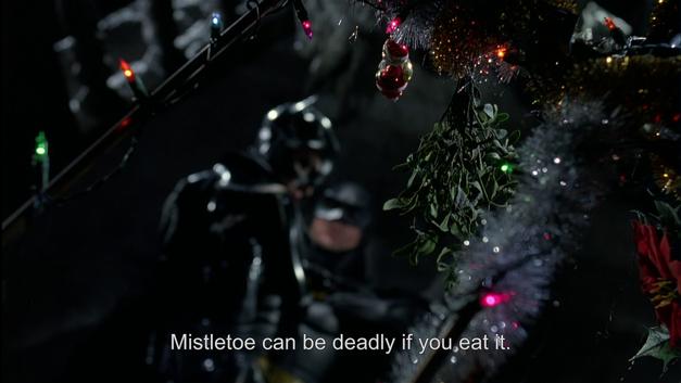 batman returns christmas mistletoe
