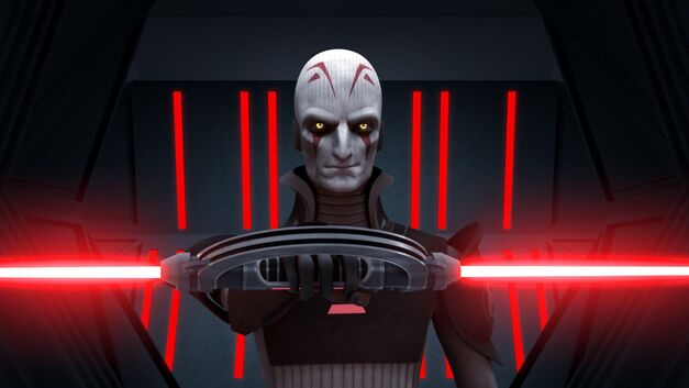 "Star Wars Rebels, ""Rise of the Old Masters"": The Grand Inquisitor and his double-bladed lightsaber"