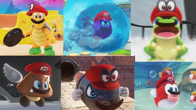 Super Mario Odyssey has many enemies for Cappy to capture