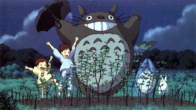 Totoro with Plants studio ghibli