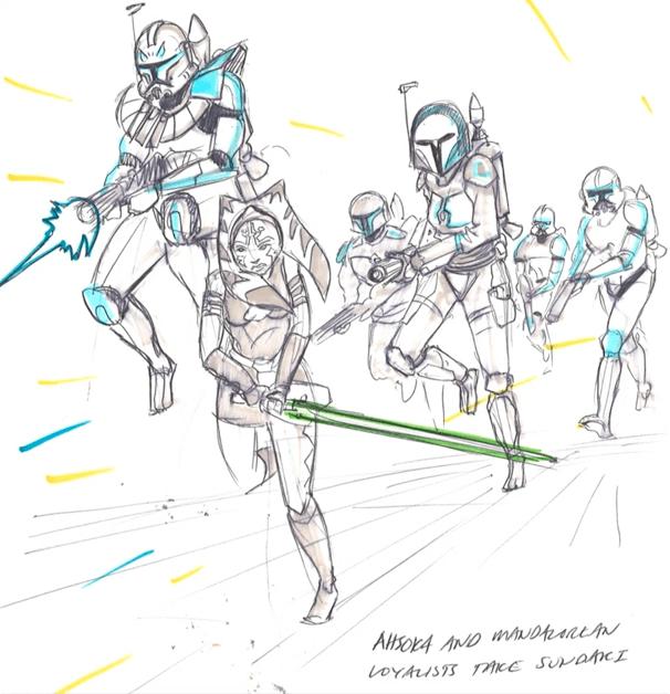 Siege-of-Mandalore-art-Captain-Rex-Ahsoka-Tano-Bo-Katan-Kryze
