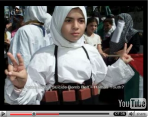 Peace-sign suicide bomber belt