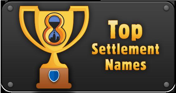 Banner top settlement names
