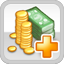 Tax Income Research Icon (White)