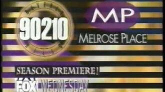 Fox Wednesday Commercial - Beverly Hills 90120 - S4E1 - Melrose Place - S2E1 (1993)