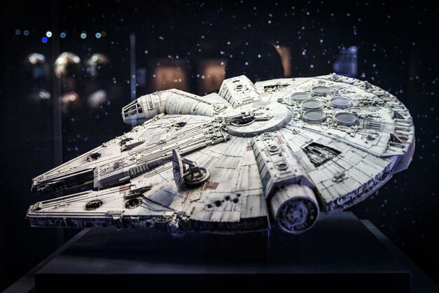 Original model of the Millennium Falcon