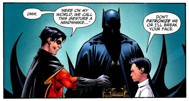 Damian Wayne Tim Drake Batman and Son