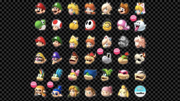Mario Kart 8 Deluxe, new characters