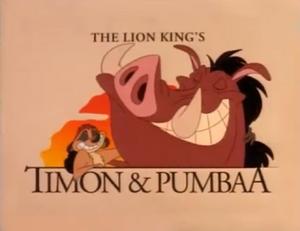 Timon & Pumbaa Title Card