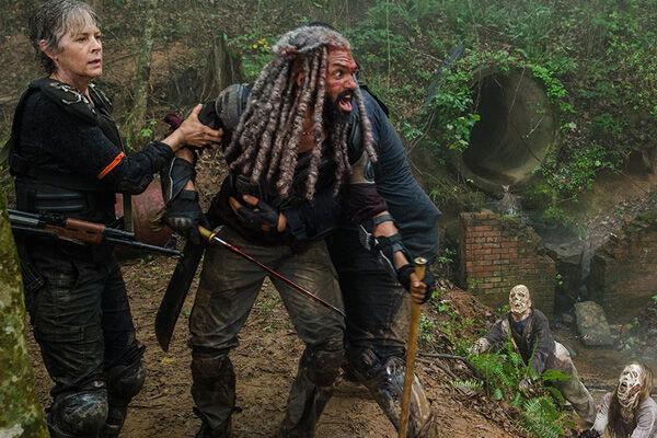 The Walking Dead-Ezekiel-Carol-Jerry