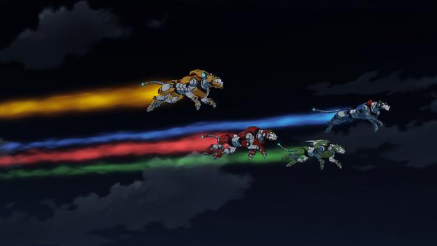Team Voltron minus Black Lion