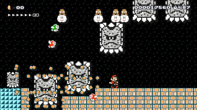 A screenshot of Super Mario Maker for Wii U.