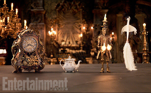 beauty and the beast cogsworth mrs potts lumiere ew