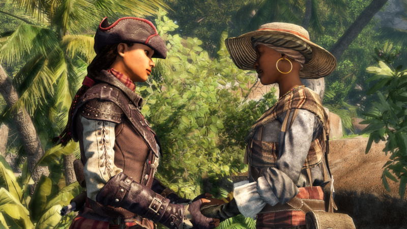 Assassins Creed: LIberations Aveline de grandpré speaking with her mother Jeanne´