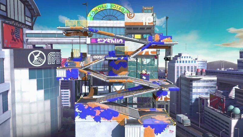Moray Towers map stage level Super Smash Bros Ultimate Splatoon