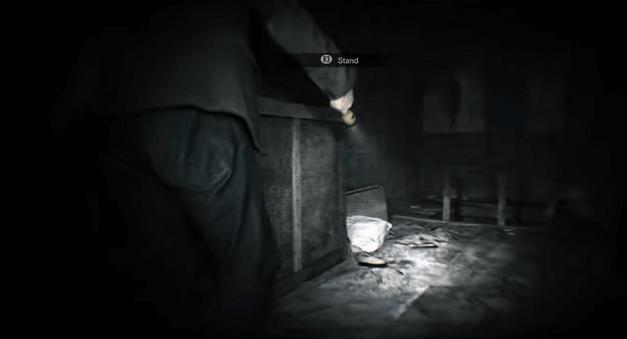 Resident Evil VR - ladder