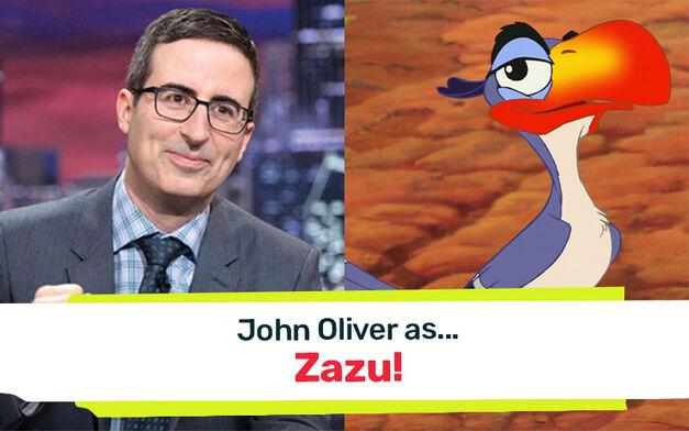 john oliver zazu the lion king