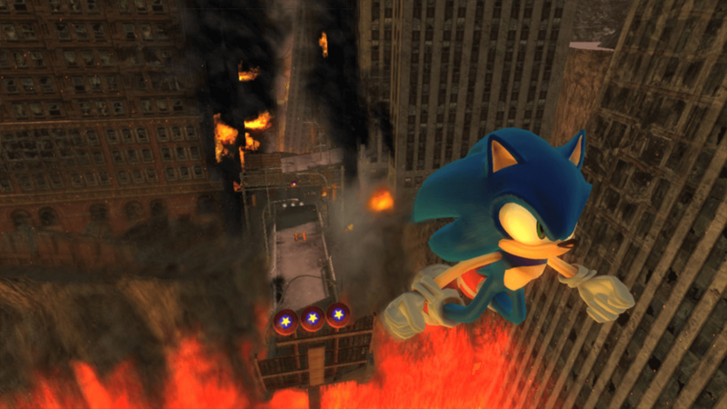 Sonic 2006 06 jumping from fire hedgehog bad game