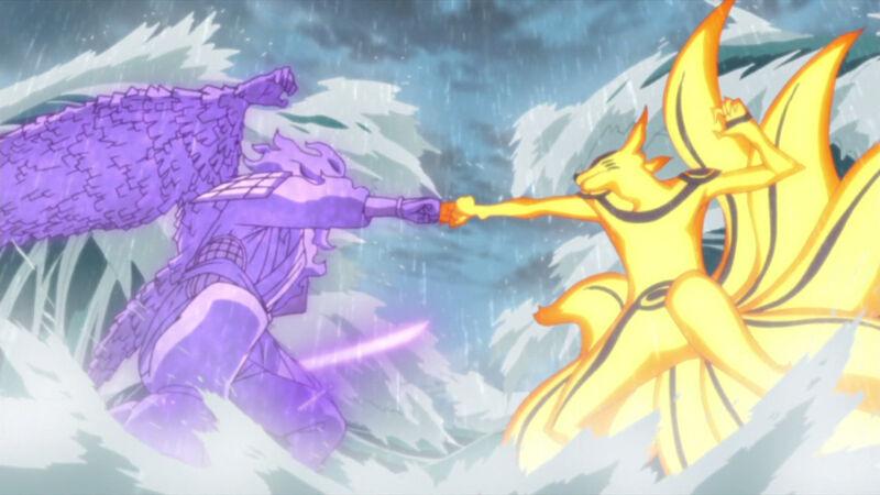 Susanoo vs kurama final battle
