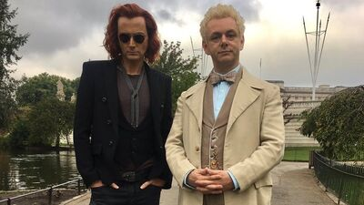 First Look at David Tennant and Michael Sheen in 'Good Omens'