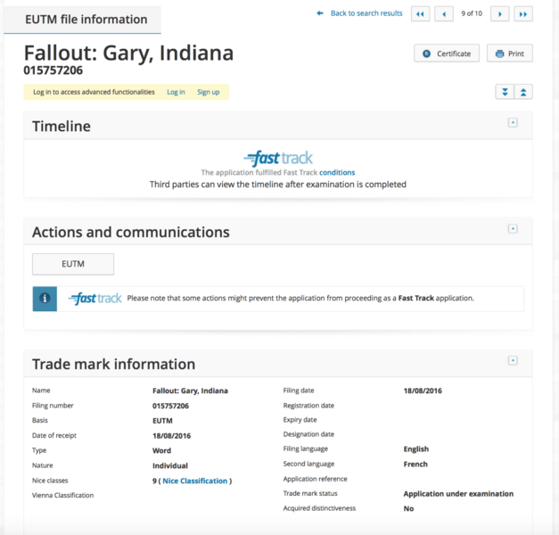 Fallout Indiana fake registration