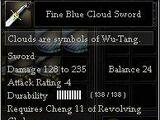 Fine Blue Cloud Sword
