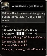 Worn Black Viper Bracers
