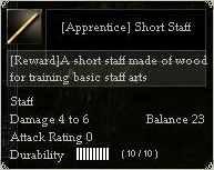 Apprentice Short Staff